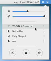 Wi-Fi Settings selected from the menu on the top right
